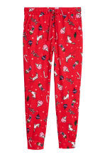 Patterned joggers - Red/Christmas - Ladies | H&M 2