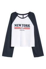 Long-sleeved top - White/New York - Ladies | H&M IE 2