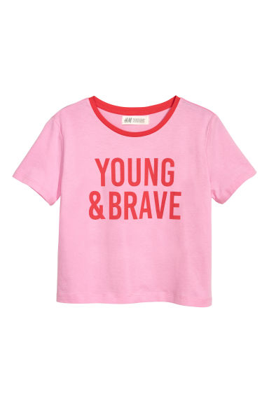 T-shirt con stampa - Rosa/Young & brave - BAMBINO | H&M IT