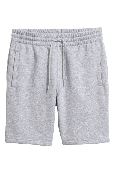 Short en molleton - Gris chiné -  | H&M FR