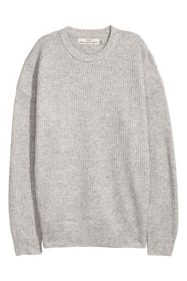 Pull oversize - Gris chiné -  | H&M BE