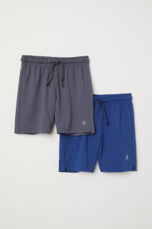 Lot de 2 shorts training