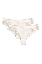 2-pack Brazilian briefs - Natural white - Ladies | H&M CN 2