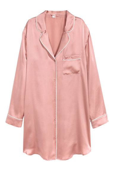 Silk nightshirt - Pink - Ladies | H&M IE