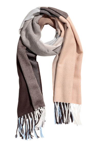 Scarf - Brown/Light blue - Ladies | H&M IE