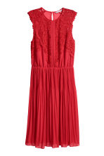 Chiffon dress - Bright red - Ladies | H&M CN 2