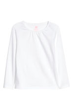 2-pack jersey tops - White/Pink marl - Kids | H&M CN 4