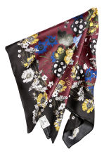 Floral silk scarf - Burgundy/Floral - Ladies | H&M 2