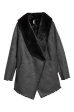 Wool-blend bouclé coat - Black - Ladies | H&M 1