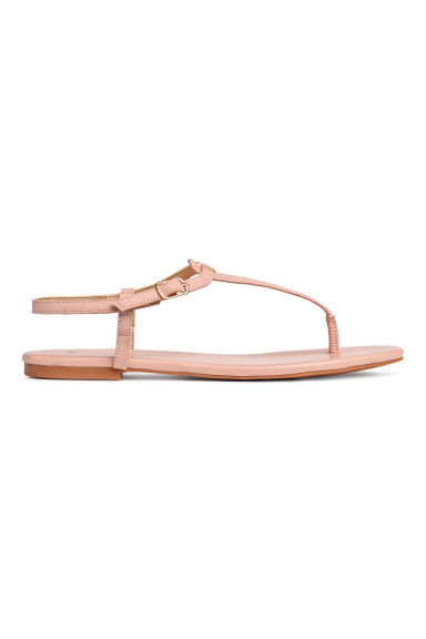 Strappy sandals - Powder pink -  | H&M GB