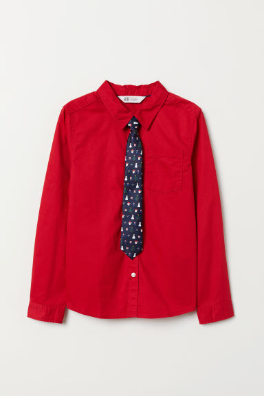 Shirt with Tie/Bow Tie
