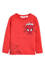2-pack jersey tops - Red/Spider-Man - Kids | H&M CN 2