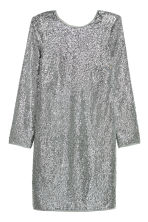 Sequined dress - Silver-coloured - Ladies | H&M 2