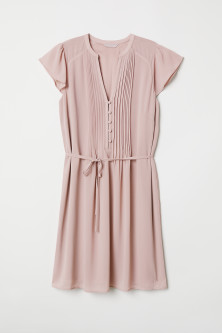Dress with a tie belt