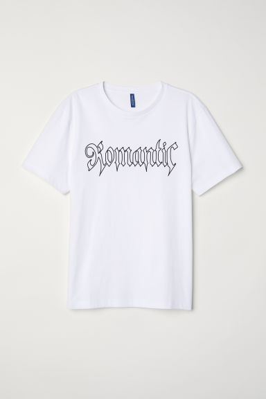 T-shirt avec impression - Blanc/Romantic -  | H&M FR