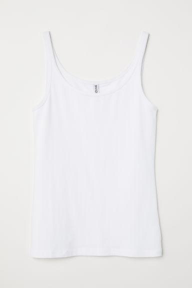 Jersey vest top - White -  | H&M GB