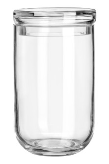 Large glass jar with a lid