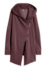 Hooded sweatshirt cardigan - Dark burgundy - Ladies | H&M 2
