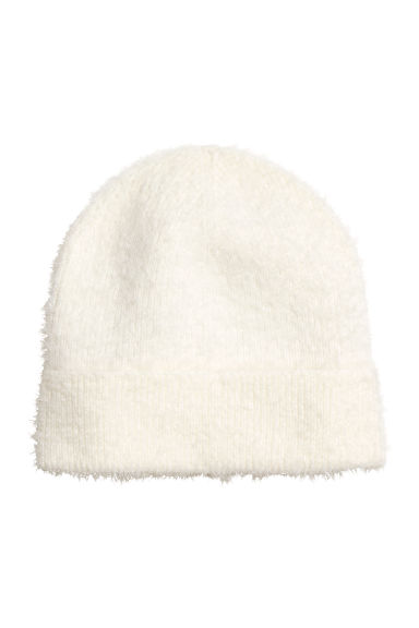 Knitted hat - White - Ladies | H&M CN