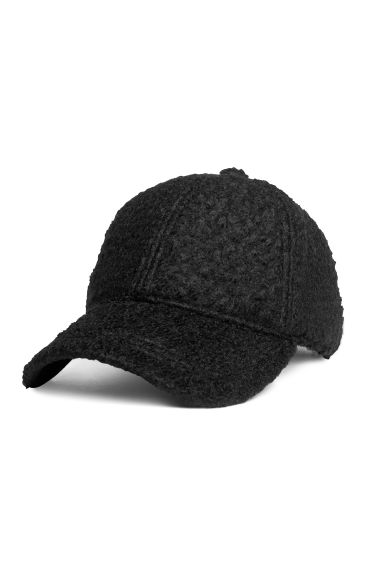 Cap - Black/Bouclé - Ladies | H&M