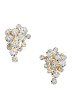 Sparkly clip earrings - Gold-coloured - Ladies | H&M CN 1