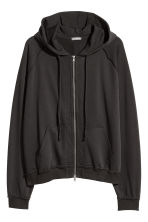 Hooded raglan-sleeved jacket - Black - Men | H&M 2