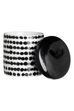 Cylindrical pot - White/Black spotted - Home All | H&M GB 2