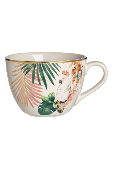 Patterned porcelain cup - White/Patterned - Home All | H&M CN
