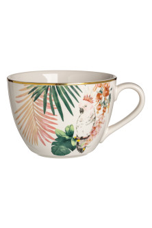 Patterned porcelain cup