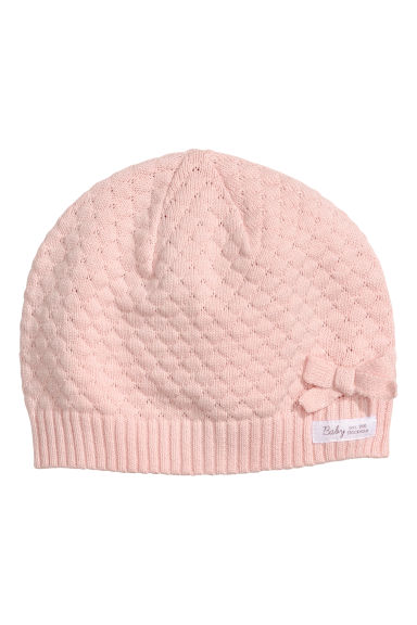 Fine-knit hat - Light pink - Kids | H&M CN