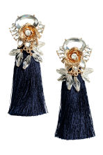 Long earrings - Dark blue - Ladies | H&M CN 1