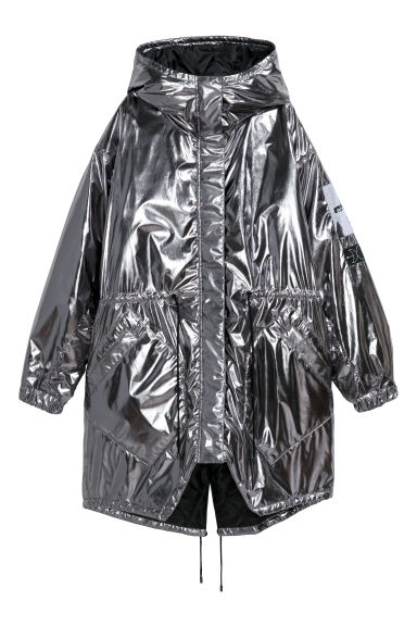 Padded parka - Silver-coloured/Metallic - Ladies | H&M