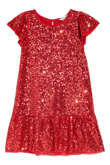 Sequined dress - Red - Kids | H&M CN
