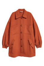 Short wool coat - Rust - Ladies | H&M 2