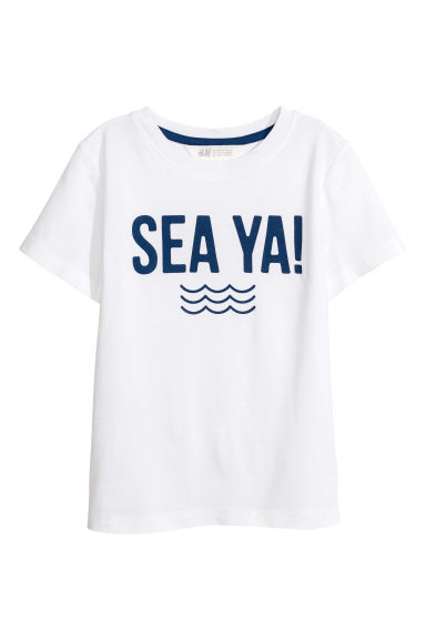 印花T恤 - 白色/Sea Ya! - Kids | H&M CN