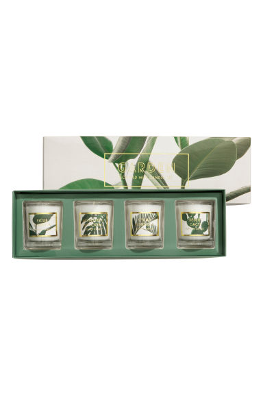 Boxed 4-pack scented candles - Natural white/Garden - Home All | H&M IE