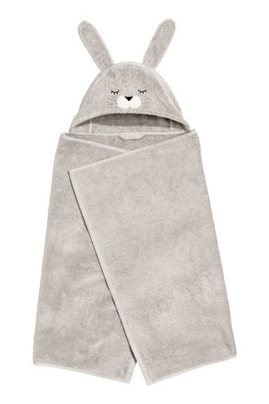 Hand towel with a hood - Grey -  | H&M IE