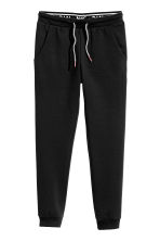 Joggers with a foldover waist - Black - Kids | H&M 2