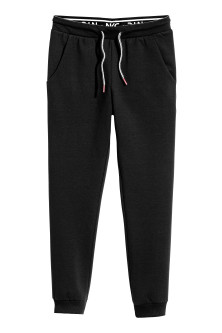 Joggers with a foldover waist