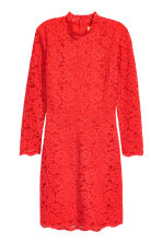 Short lace dress - Bright red - Ladies | H&M 2