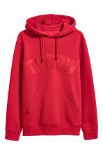 Hooded Sweatshirt with Motif - Bright red - Men | H&M CA 2