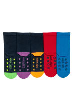 5-pack anti-slip socks - Blue/Turtles - Kids | H&M CN 3
