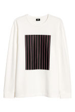 Long-sleeved top with a motif - Cream - Men | H&M CN 2