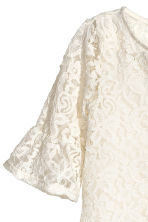 Flounce-sleeved lace top - Natural white - Kids | H&M CN 3