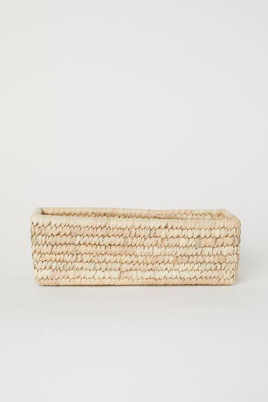 Braided storage basket - Natural - Home All | H&M CN