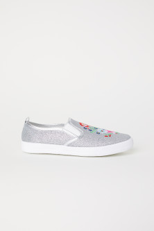 Glittriga slip in-sneakers