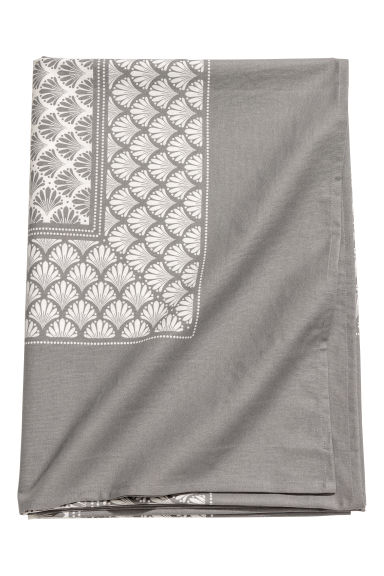 Patterned cotton tablecloth - Grey/Patterned - Home All | H&M CN