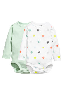 2-pack Long-sleeved Bodysuits
