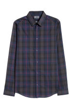 Shirt Slim Fit - Dark blue/Red checked - Men | H&M 2