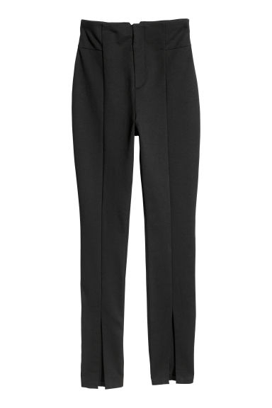Fitted trousers - Black -  | H&M